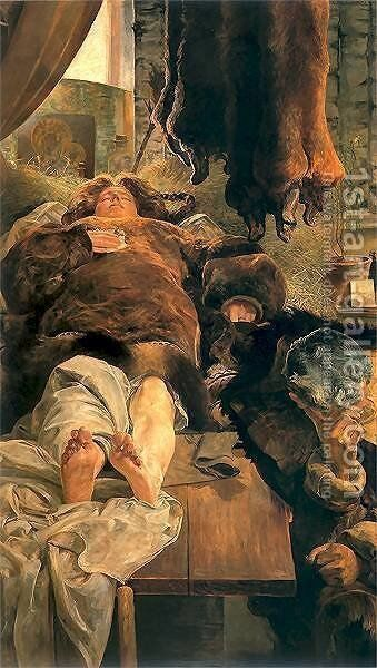 Elle death by Jacek Malczewski - Reproduction Oil Painting