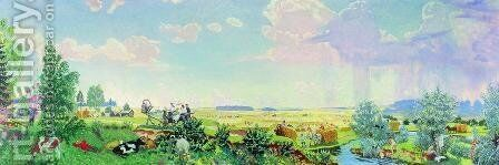 Summer (A trip to the Terem) by Boris Kustodiev - Reproduction Oil Painting