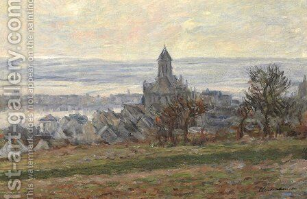 The Church of Vetheuil by Claude Oscar Monet - Reproduction Oil Painting