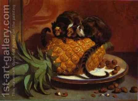 Brazilian Marmosets by Sir Edwin Henry Landseer - Reproduction Oil Painting