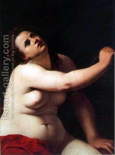 Cleopatra 2 by Artemisia Gentileschi - Reproduction Oil Painting