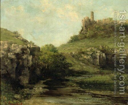 The Source at Ornans by Gustave Courbet - Reproduction Oil Painting