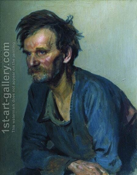 Academic keeper Efimov by Ilya Efimovich Efimovich Repin - Reproduction Oil Painting