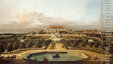 The imperial summer residence, garden by Bernardo Bellotto (Canaletto) - Reproduction Oil Painting