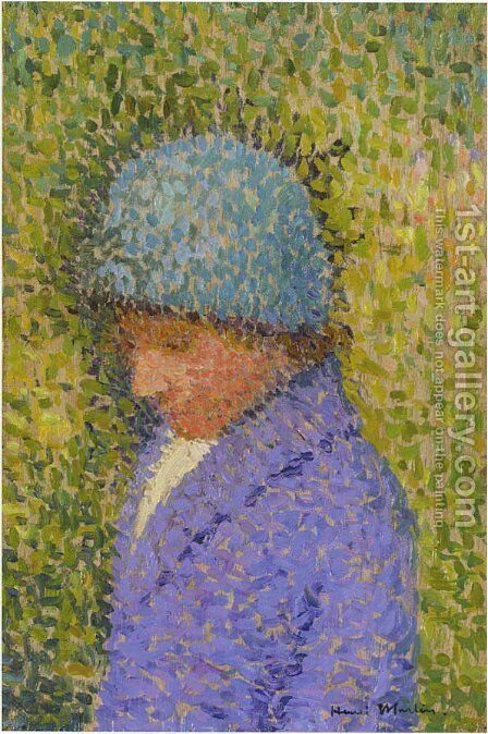 Portrait of a Young Girl by Henri Martin - Reproduction Oil Painting