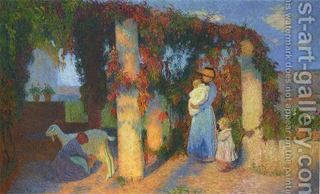 The Pergola in Marquayrol by Henri Martin - Reproduction Oil Painting