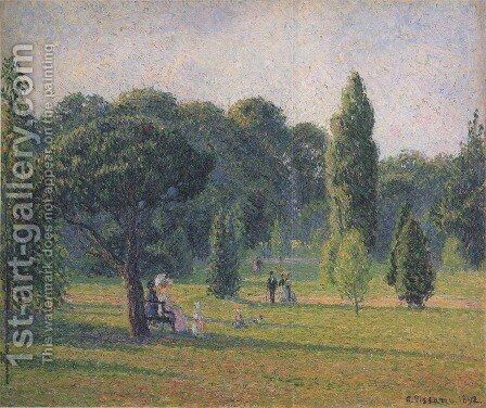 Gardens At Kew, Sunset by Camille Pissarro - Reproduction Oil Painting