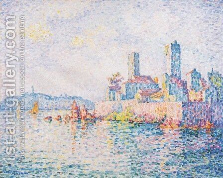 Antibes, the towers by Paul Signac - Reproduction Oil Painting