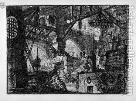The Well by Giovanni Battista Piranesi - Reproduction Oil Painting