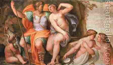 Venus and Mars by Agostino Carracci - Reproduction Oil Painting