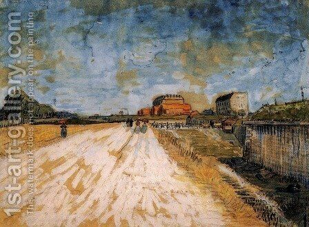 Road Running Beside the Paris Ramparts by Vincent Van Gogh - Reproduction Oil Painting