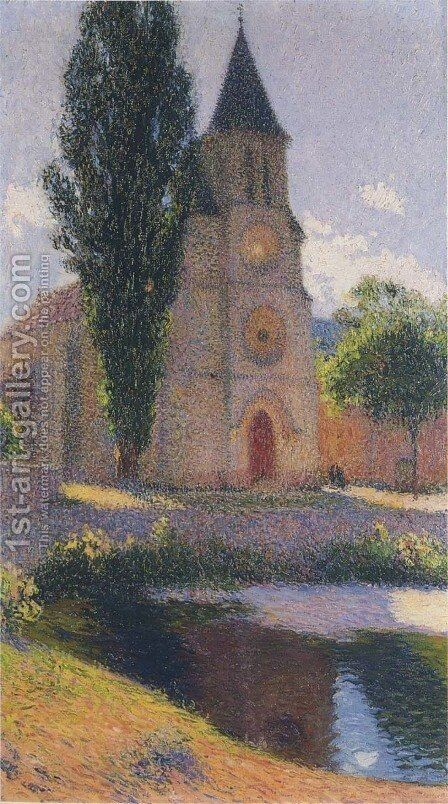 Church at Labastide du Vert by Henri Martin - Reproduction Oil Painting