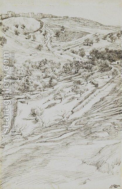 Valley of Jehoshaphat by James Jacques Joseph Tissot - Reproduction Oil Painting