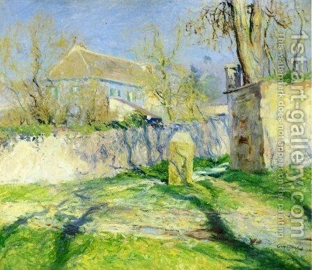 The Blue House by Guy Rose - Reproduction Oil Painting