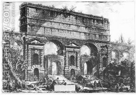 Vedute di Roma 51 by Giovanni Battista Piranesi - Reproduction Oil Painting