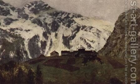 In Alps by Isaak Ilyich Levitan - Reproduction Oil Painting