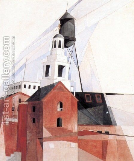 Lancaster by Charles Demuth - Reproduction Oil Painting