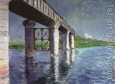 The Bridge at Argenteuil by Gustave Caillebotte - Reproduction Oil Painting