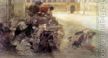 The Sketch of Christian Dirce by Henryk Hector Siemiradzki - Reproduction Oil Painting