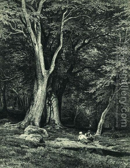 Forest 2 by Ivan Shishkin - Reproduction Oil Painting