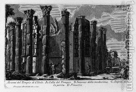 The Roman antiquities, t. 1, Plate XXII. Temple of Cybele. by Giovanni Battista Piranesi - Reproduction Oil Painting