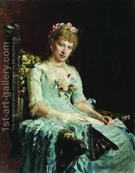 Portrait of a Woman (E.D. Botkina) by Ilya Efimovich Efimovich Repin - Reproduction Oil Painting