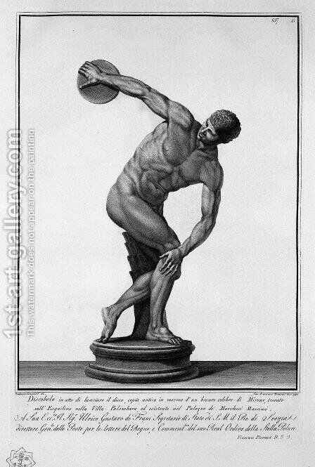 Discus Thrower by Giovanni Battista Piranesi - Reproduction Oil Painting