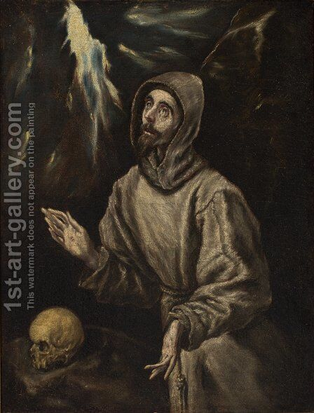 The Ecstasy Of St Francis Of Assisi Painting By El Greco
