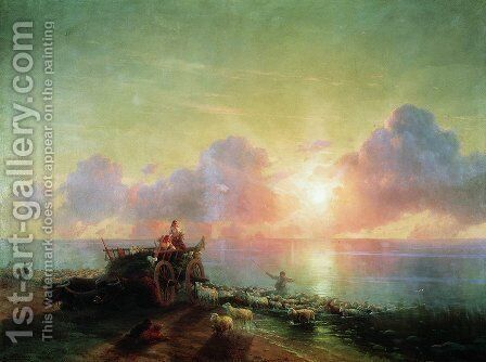 Sheepdip by Ivan Konstantinovich Aivazovsky - Reproduction Oil Painting