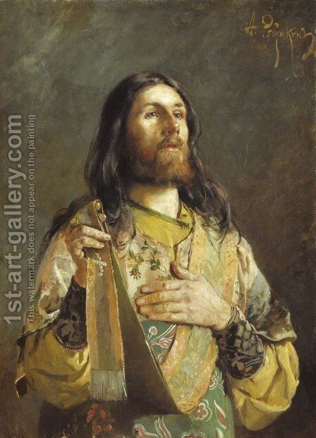 Deacon by Andrei Petrovich Ryabushkin - Reproduction Oil Painting