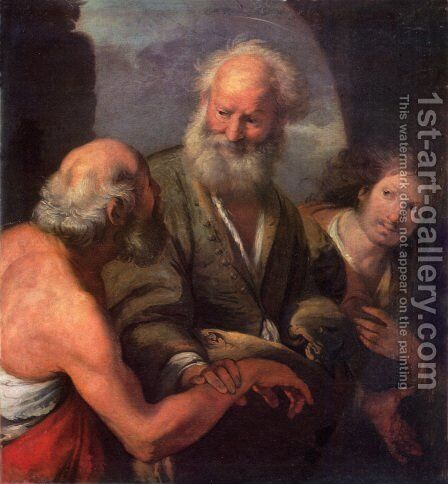 St. Peter Cures the Lame Beggar by Bernardo Strozzi - Reproduction Oil Painting