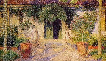 The Green Door by Henri Martin - Reproduction Oil Painting