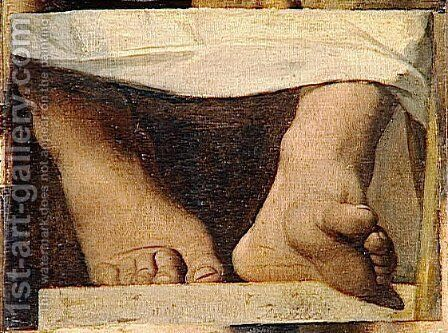 Study for the Apotheosis of Homer, Homer's feet by Jean Auguste Dominique Ingres - Reproduction Oil Painting