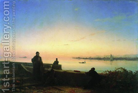 Mhitarists on island of St. Lazarus by Ivan Konstantinovich Aivazovsky - Reproduction Oil Painting