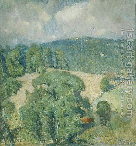 Connecticut Hillside by Emil Carlsen - Reproduction Oil Painting