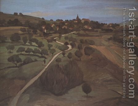 Landscape of Belmont 2 by Theophile Alexandre Steinlen - Reproduction Oil Painting