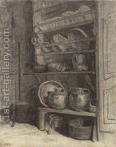 The dresser in Gruchy by Jean-Francois Millet - Reproduction Oil Painting