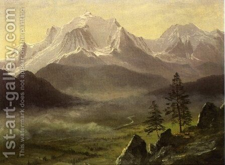 Grand Tetons 2 by Albert Bierstadt - Reproduction Oil Painting
