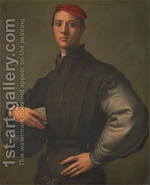 Portrait of a Young Man in a Red Cap by (Jacopo Carucci) Pontormo - Reproduction Oil Painting