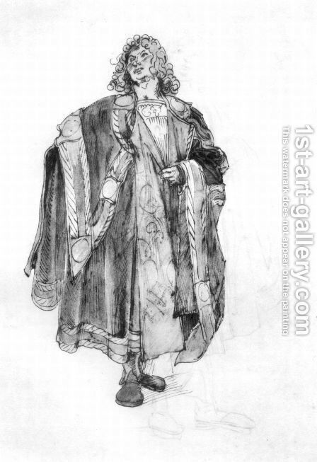 Design to a court dress 3 by Albrecht Durer - Reproduction Oil Painting
