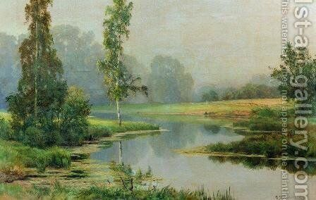 Misty Morning by Ivan Shishkin - Reproduction Oil Painting