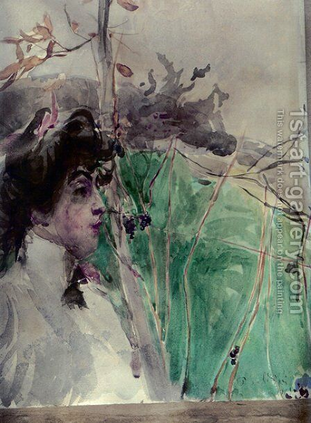 Female Profile by Giovanni Boldini - Reproduction Oil Painting