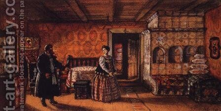 Room in the house of Prokofy Pazukhin 2 by Boris Kustodiev - Reproduction Oil Painting