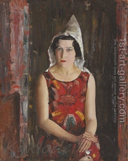 Girl From California by Boris Dmitrievich Grigoriev - Reproduction Oil Painting