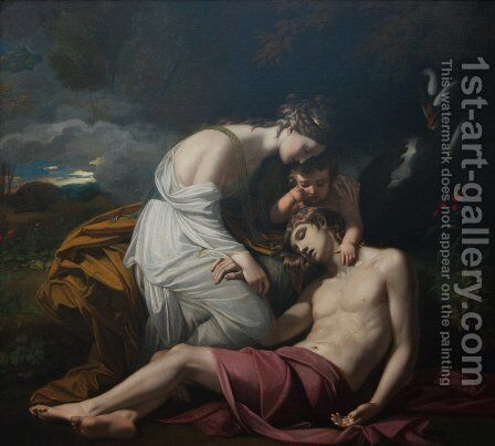 Venus Lamenting the Death of Adonis by Benjamin West - Reproduction Oil Painting