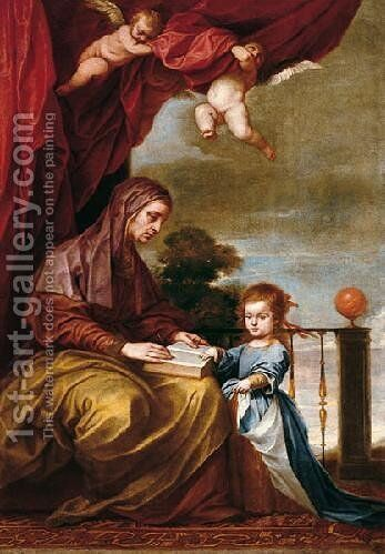 Education of the Virgin by Alonso Cano - Reproduction Oil Painting
