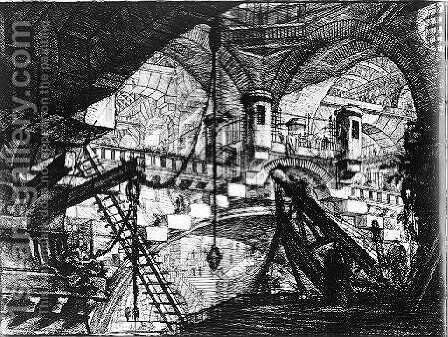 The Prisons 2 by Giovanni Battista Piranesi - Reproduction Oil Painting