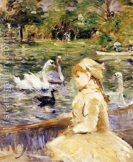 Young girl boating by Berthe Morisot - Reproduction Oil Painting
