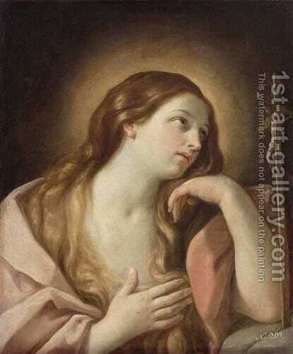 Penitent Mary Magdalene by Guido Reni - Reproduction Oil Painting