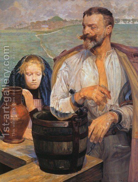 Poisoned Well III by Jacek Malczewski - Reproduction Oil Painting